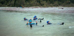 Passive Schwimmposition